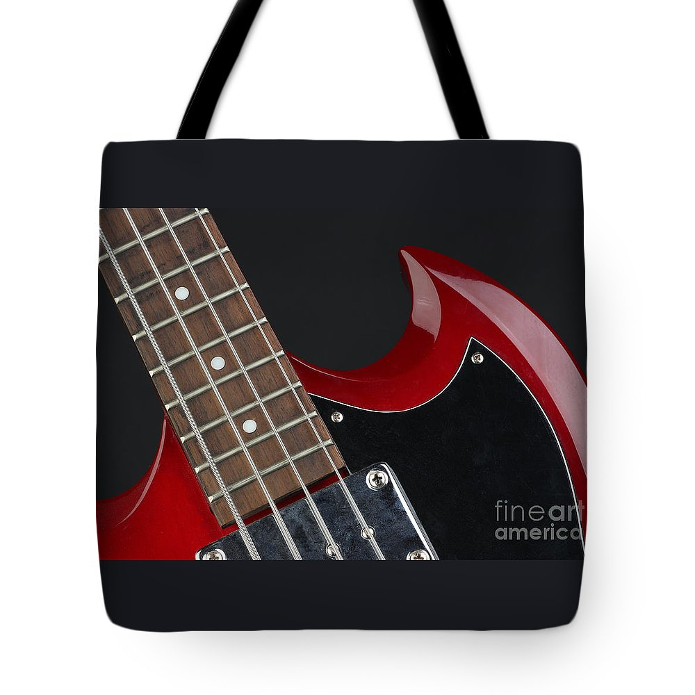 Guitar Tote Bag featuring the photograph Epiphone Sg Bass-9205 by Gary Gingrich Galleries