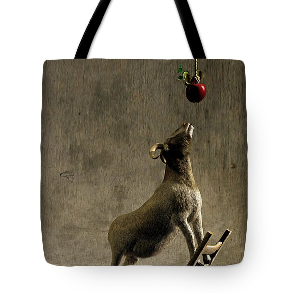 Goat Tote Bag featuring the digital art Equilibrium by Cynthia Decker