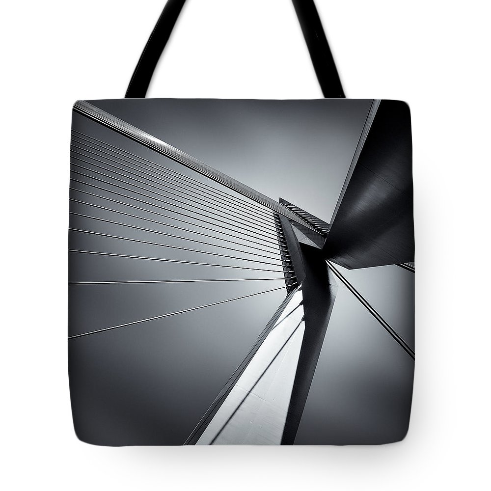 Erasmusbrug Bridge Tote Bag featuring the photograph Erasmusbrug by Dave Bowman