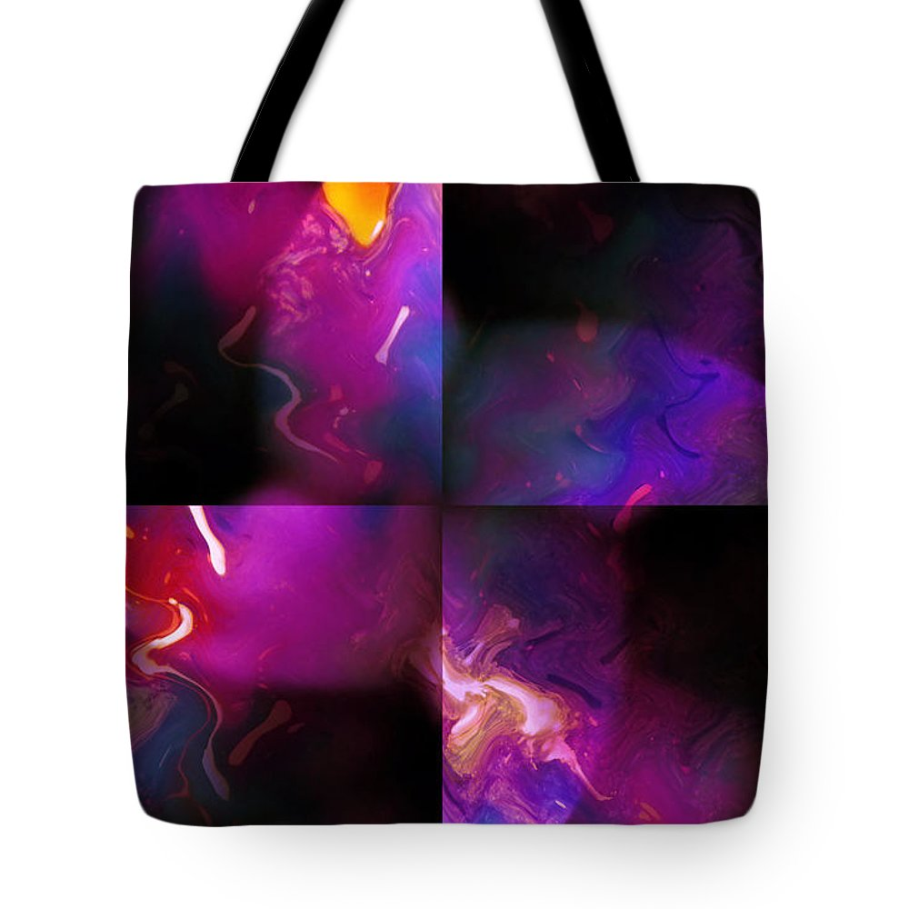 Woman Women Nude Naked Boobs Tits Breast Color Colorful Abstract Impressionism Expressionism Digital Art Two Arms Hand Body Scape Female Erotic Sex Sexual Tote Bag featuring the digital art Erotic Forms by Steve K