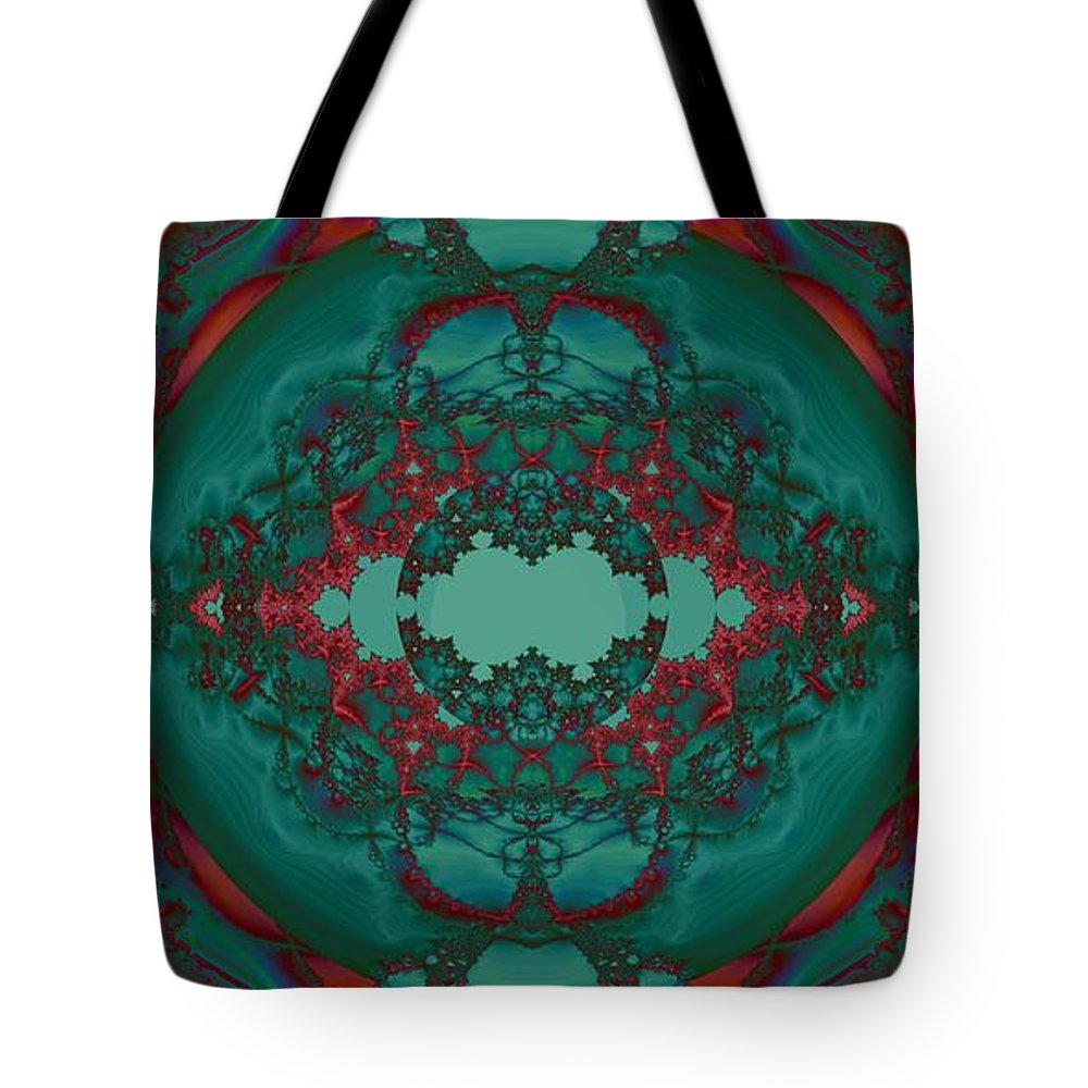 Escape Hatch 1 Tote Bag featuring the digital art Escape Hatch 1 by Elizabeth McTaggart