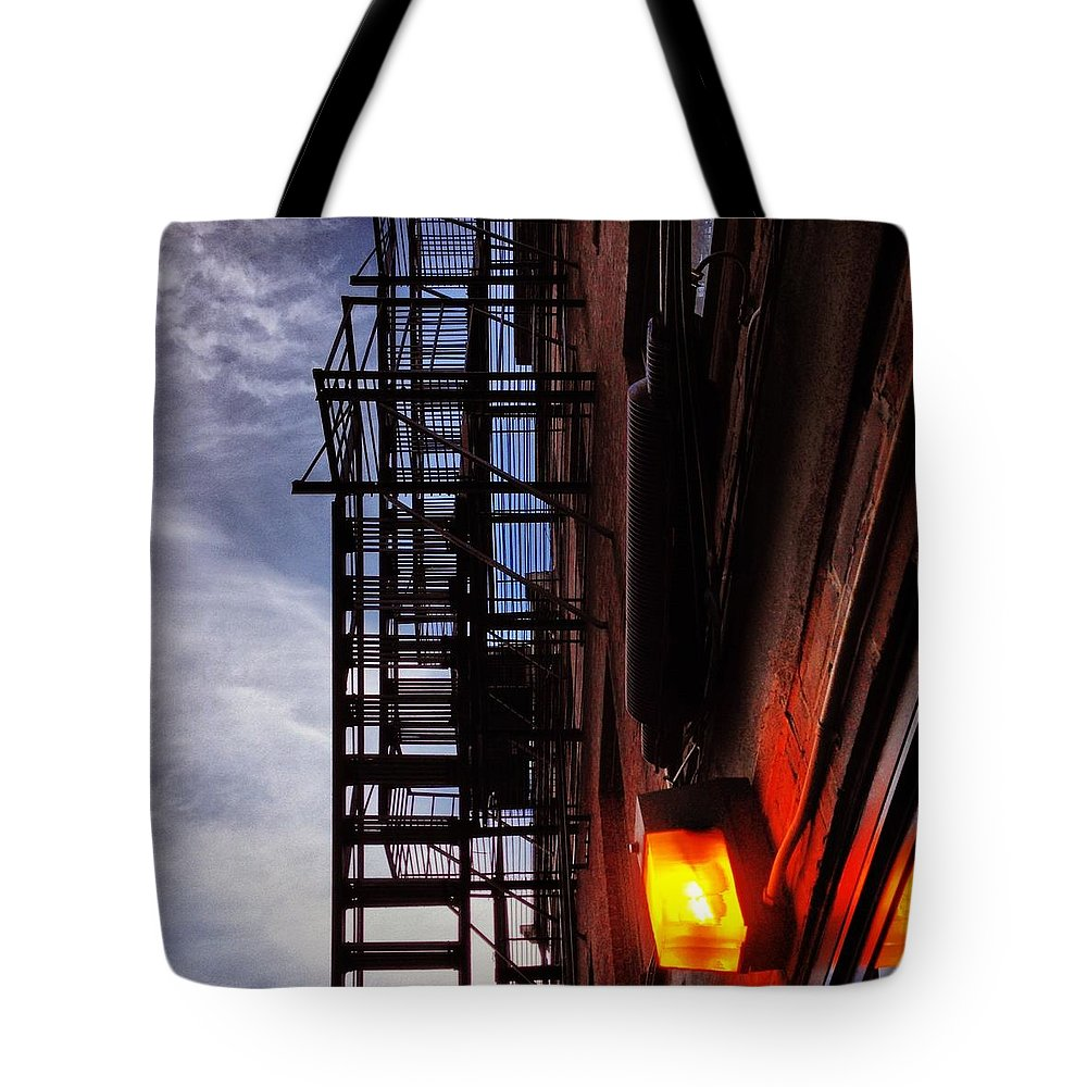 Tote Bag featuring the photograph Escape In Boston by Mark Valentine