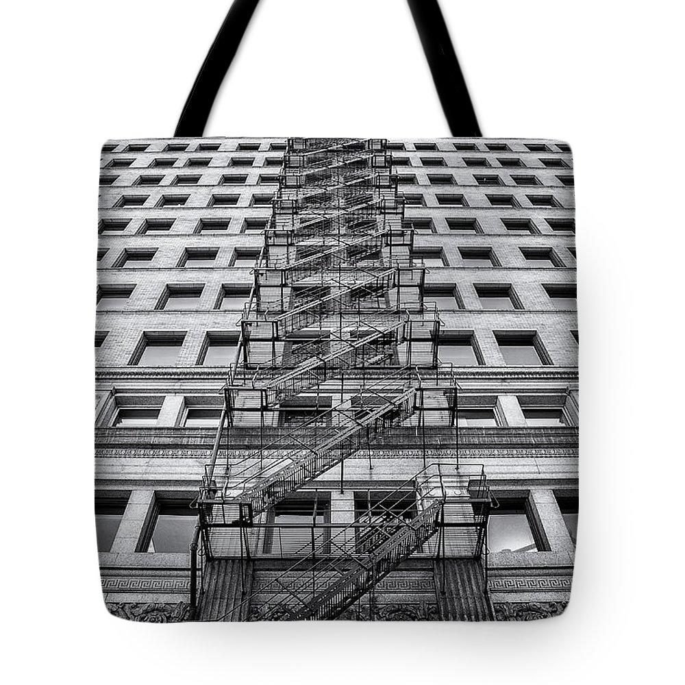 Fire Escape Tote Bag featuring the photograph Escape by Scott Norris
