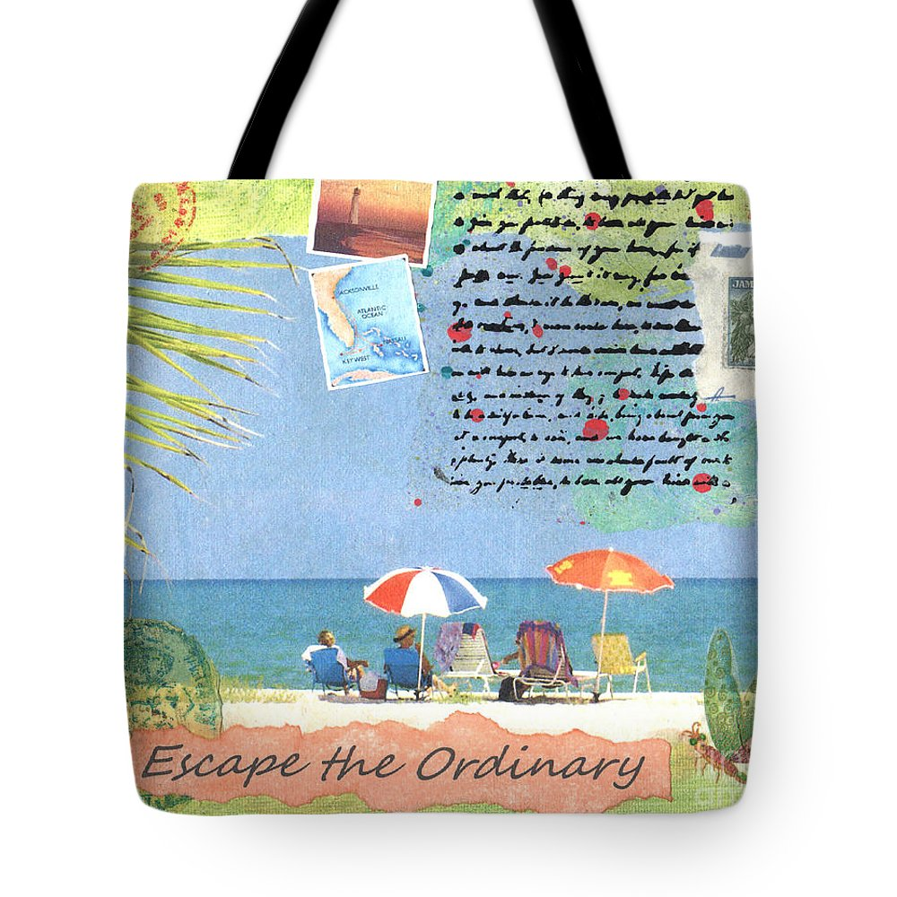 Escape Tote Bag featuring the painting Escape The Ordinary by Audrey Peaty