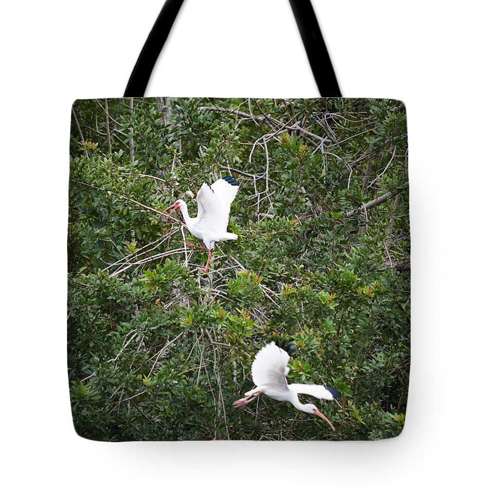 Florida Tote Bag featuring the photograph Escaping Bird by Linda Kerkau