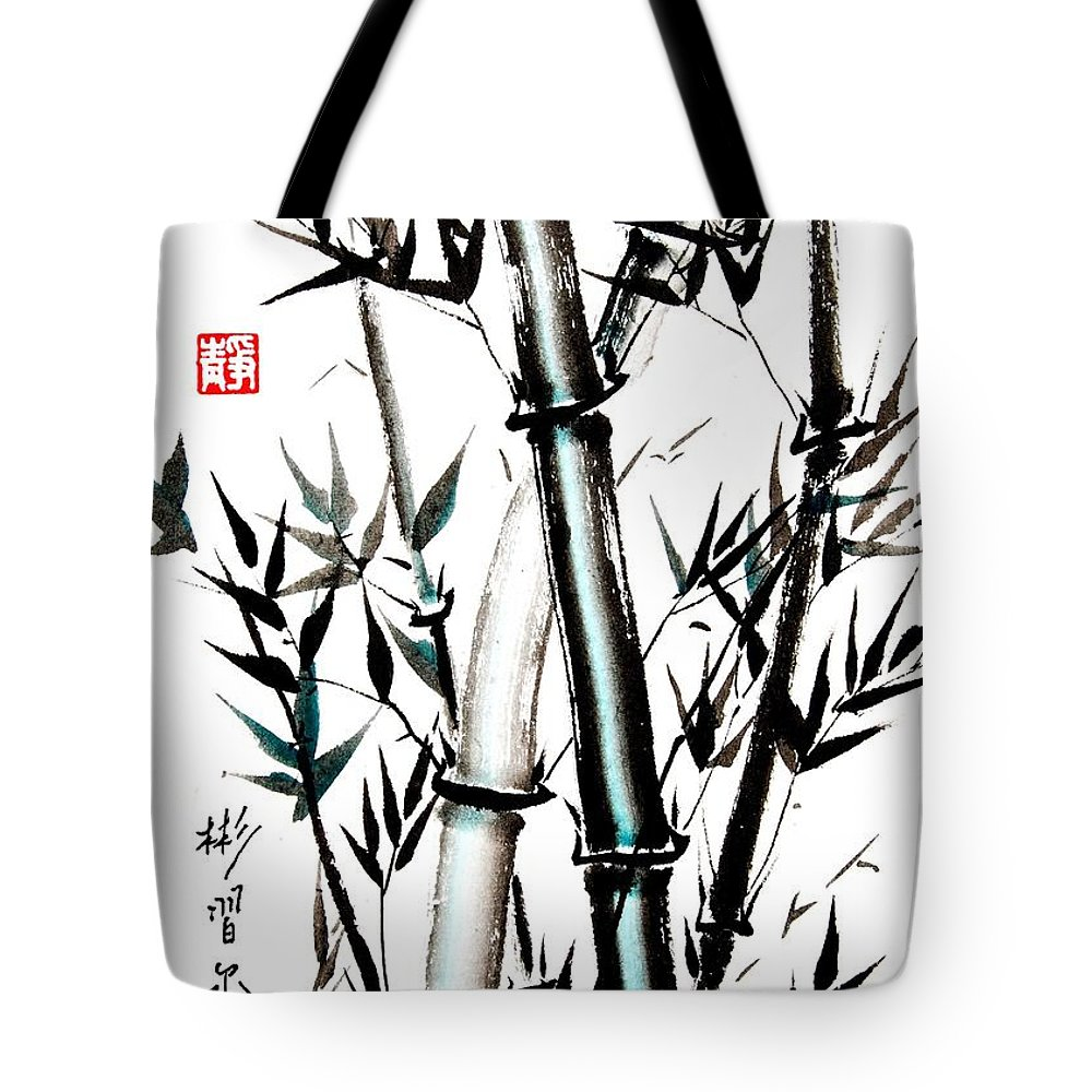 Bamboo Tote Bag featuring the painting Essence Of Strength by Bill Searle