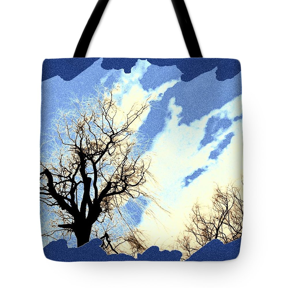 Essence Of Winter Tote Bag featuring the digital art Essence Of Winter by Will Borden