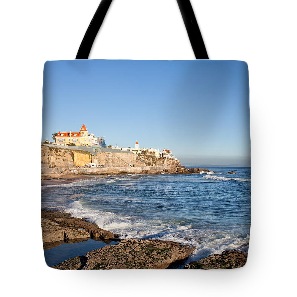 Atlantic Tote Bag featuring the photograph Estoril Coastline In Portugal by Artur Bogacki