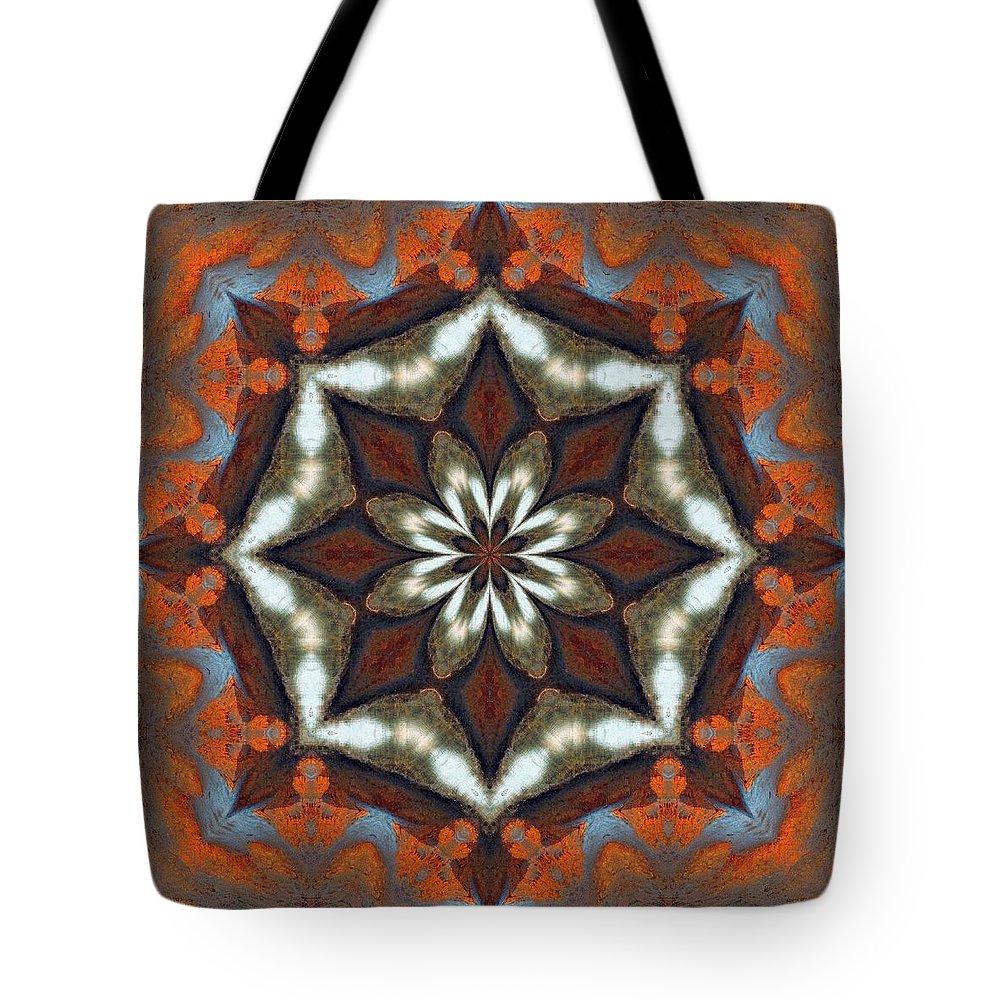 Mandala Tote Bag featuring the photograph Estuary Sunrise Mandala by I'ina Van Lawick