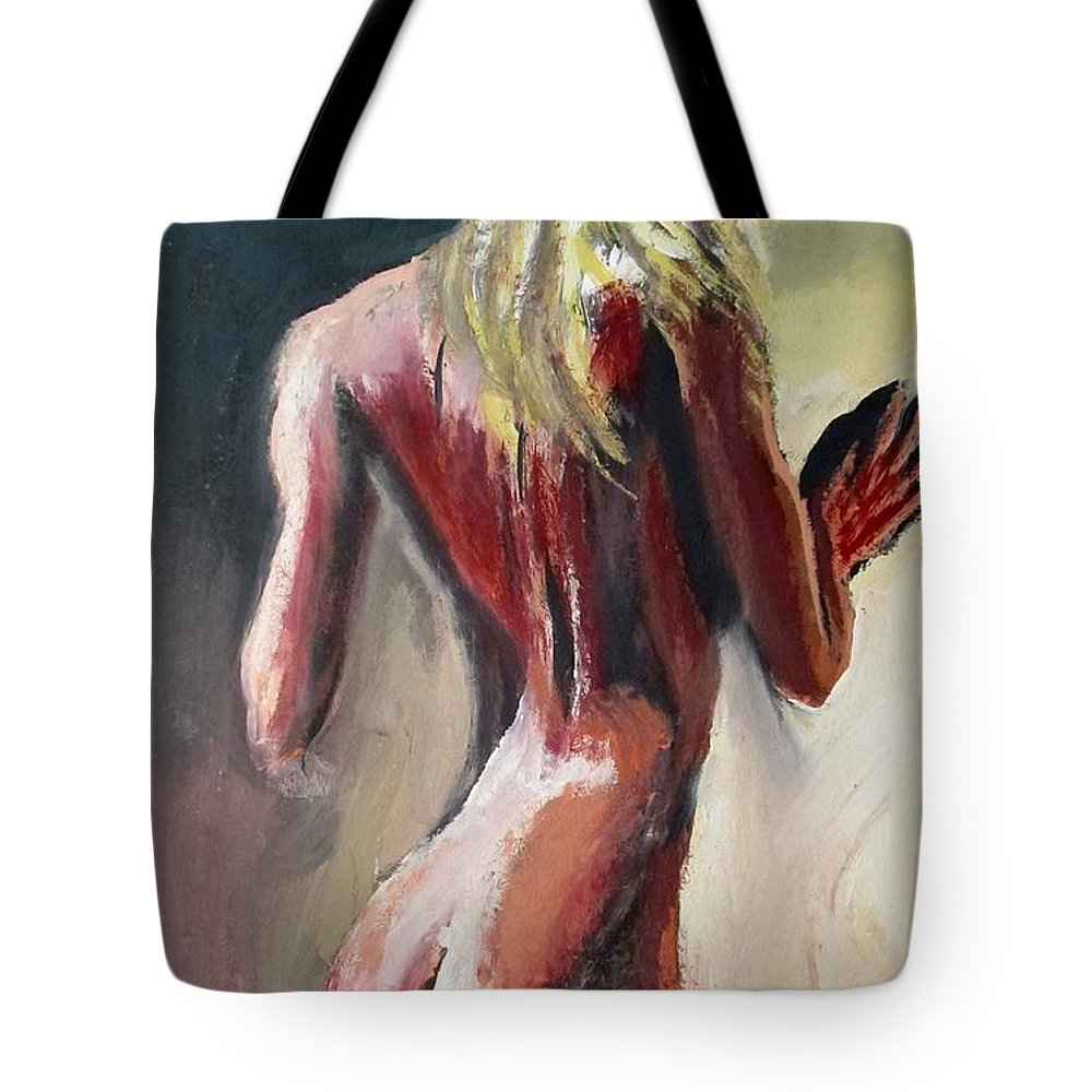 Beautiful Tote Bag featuring the painting Eternal Flame by Jarmo Korhonen aka Jarko
