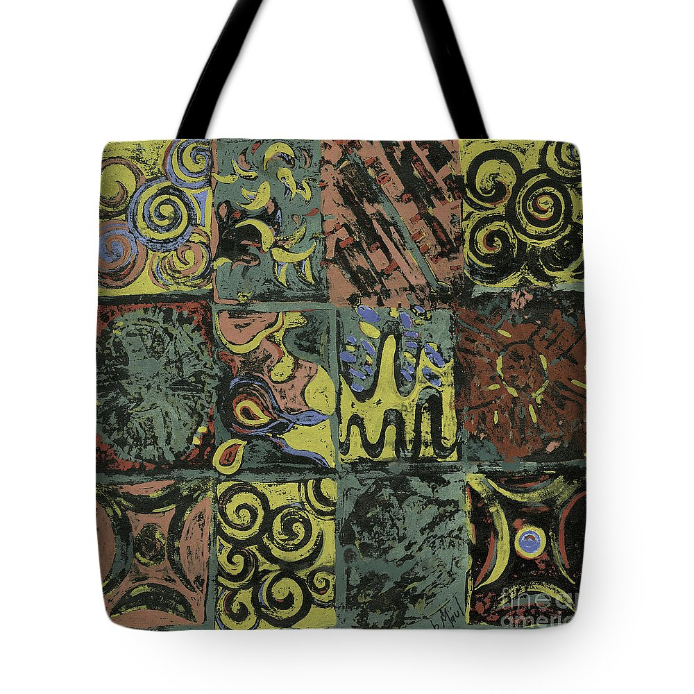 Ethnic Tote Bag featuring the painting Ethnic by Barb Maul