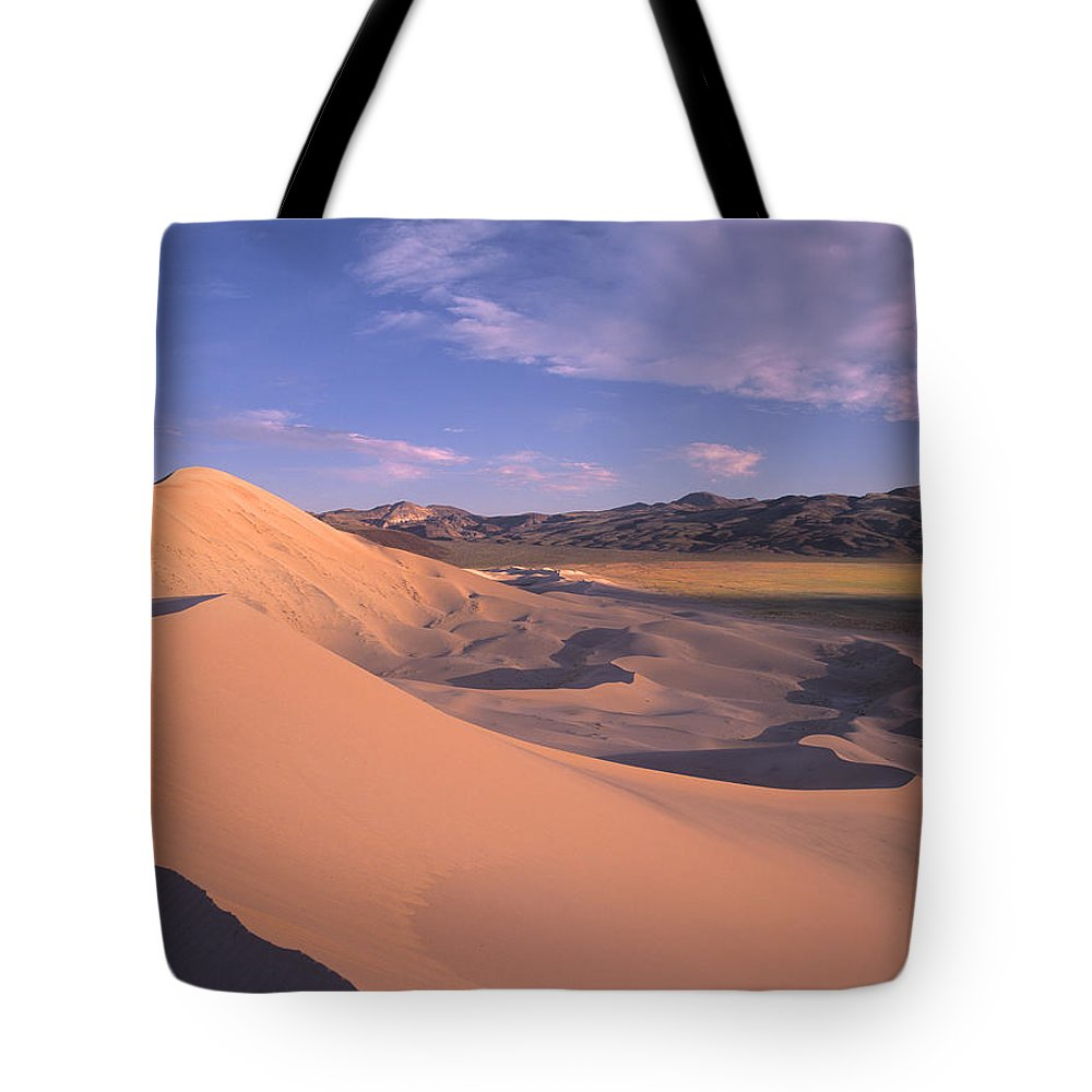 California Tote Bag featuring the photograph Eureka Dunes In Death Valley by Tim Fitzharris