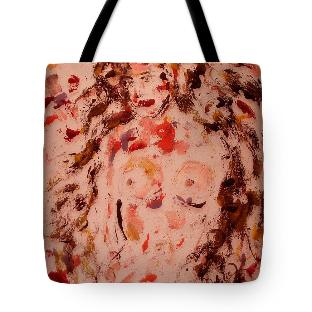 Nude Tote Bag featuring the painting EVE by Natalie Holland