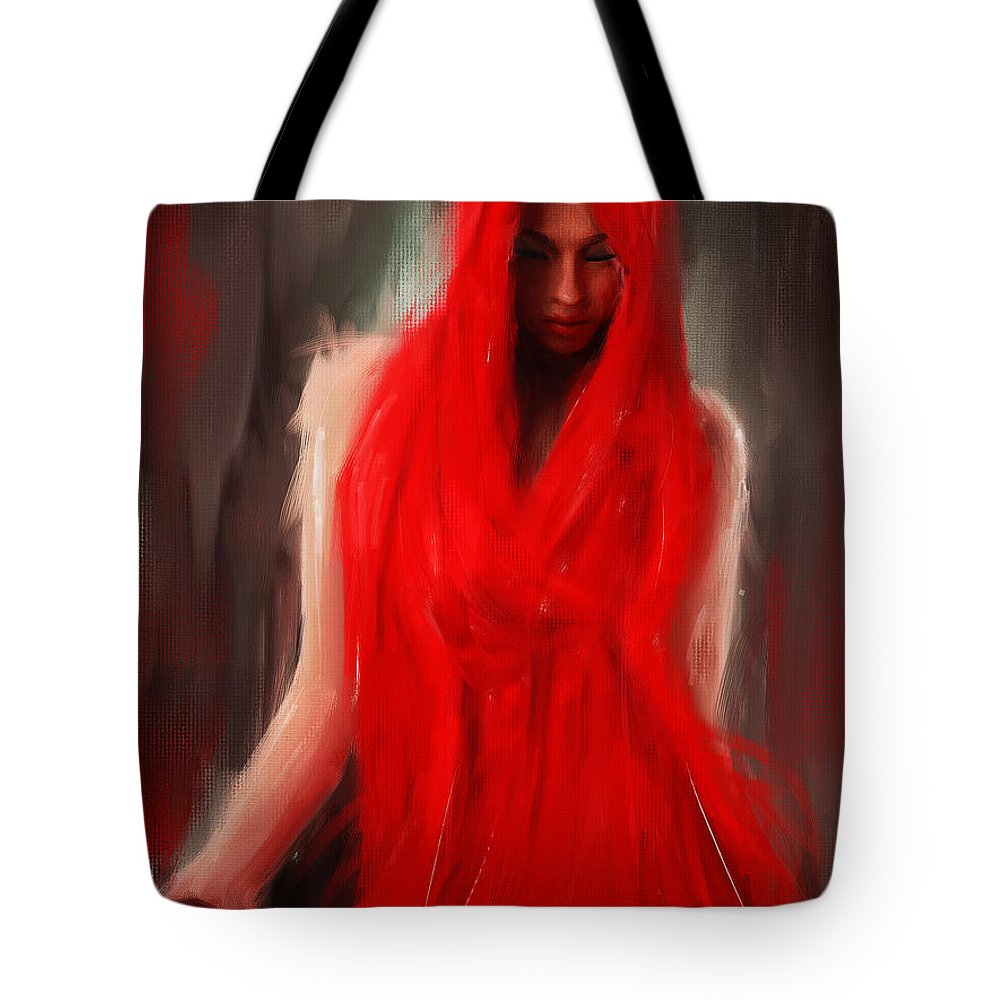 Eve Tote Bag featuring the painting Eve Within by Lourry Legarde