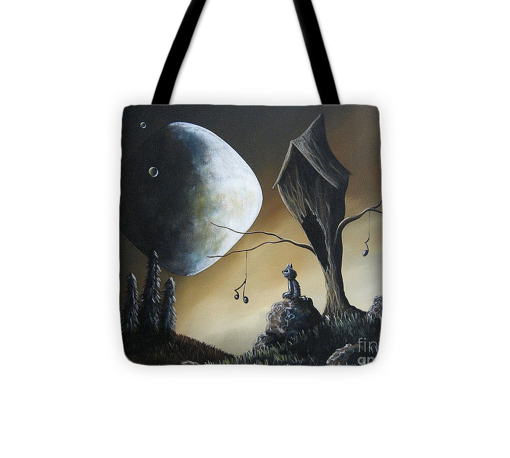 Cats Tote Bag featuring the painting Even Cats Have Strange Dreams By Shawna Erback by Artisan Parlour