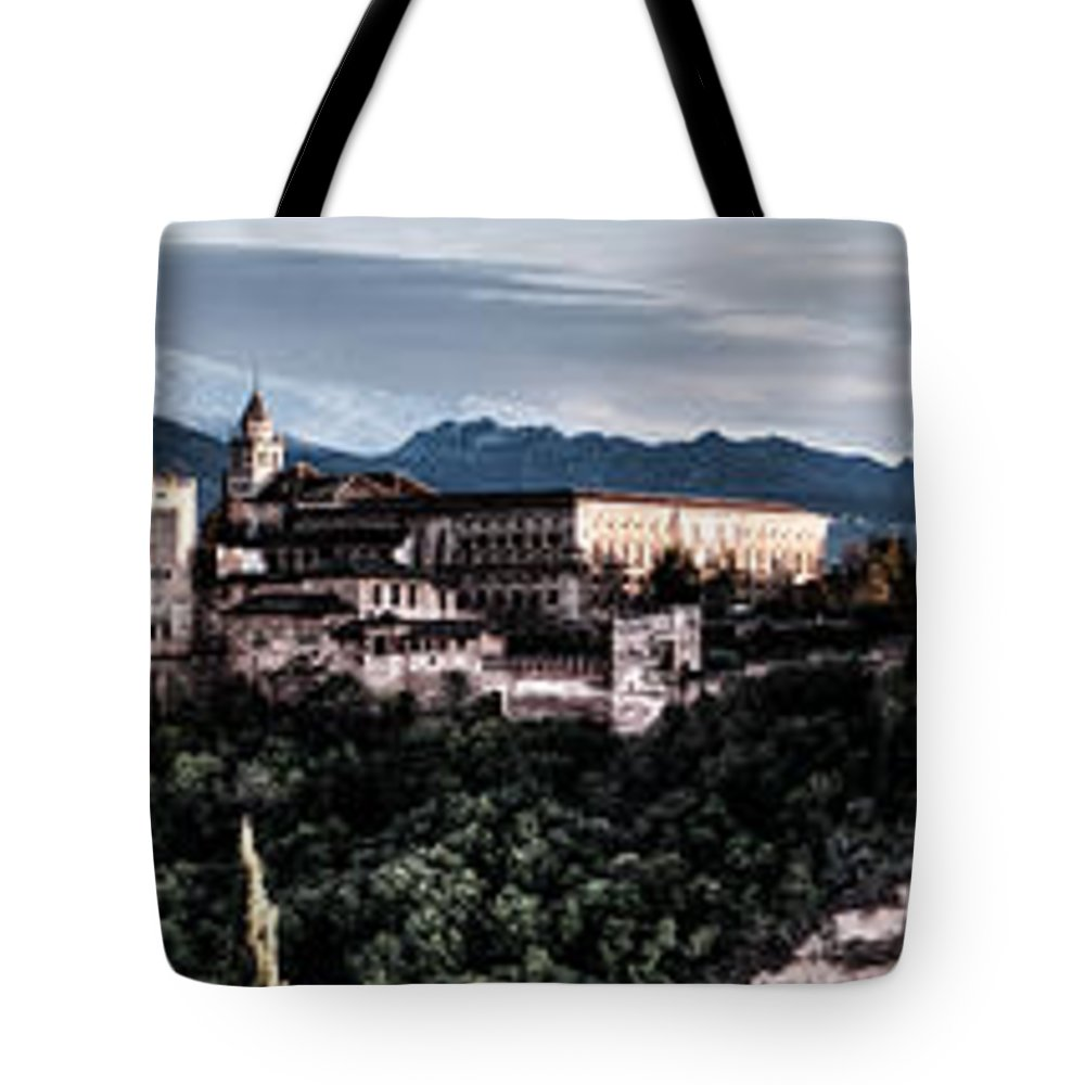 Alhambra Tote Bag featuring the photograph Evening In The Alhambra by Weston Westmoreland