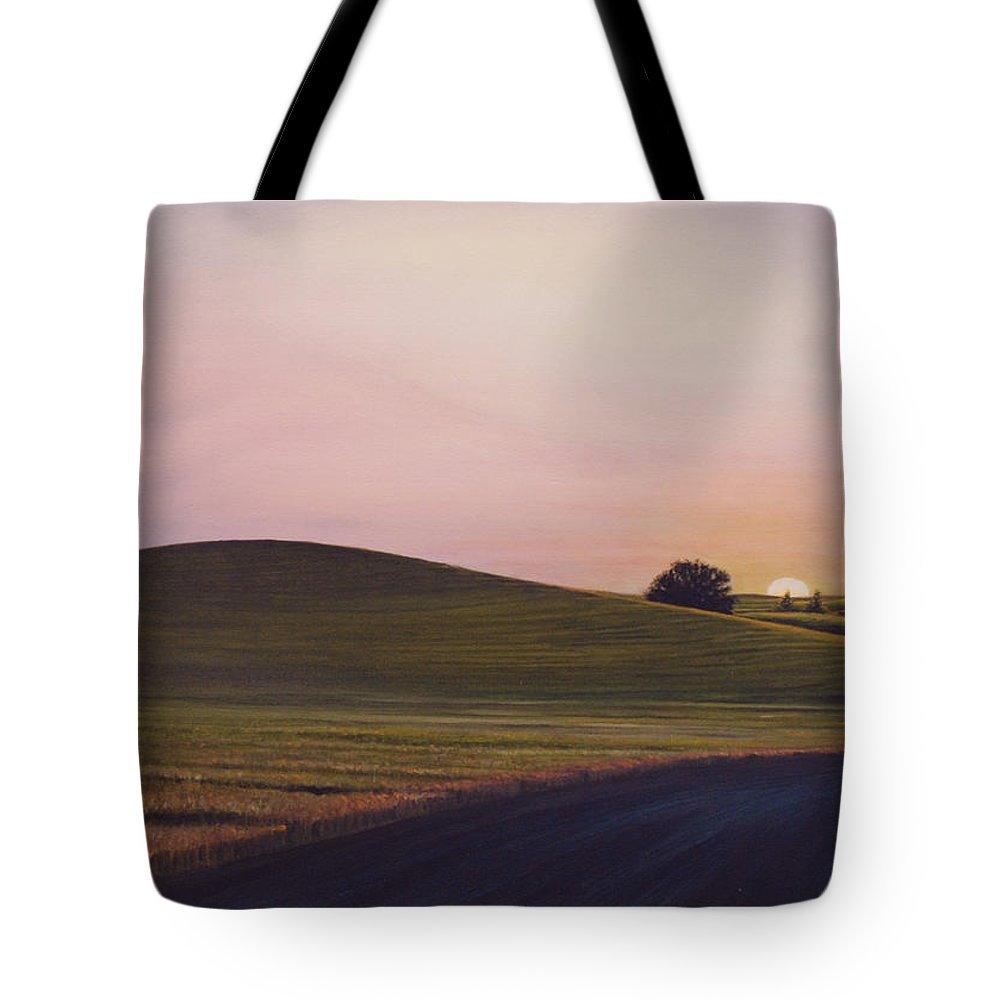 Wheat Tote Bag featuring the painting Evening Near Viola by Leonard Heid