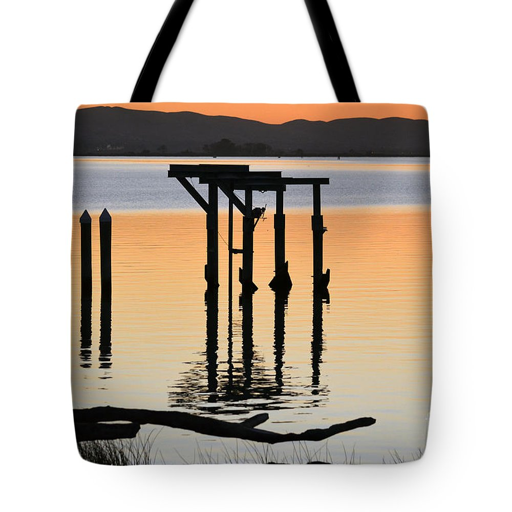 River View Tote Bag featuring the photograph Evening On The Sacramento River by Afroditi Katsikis