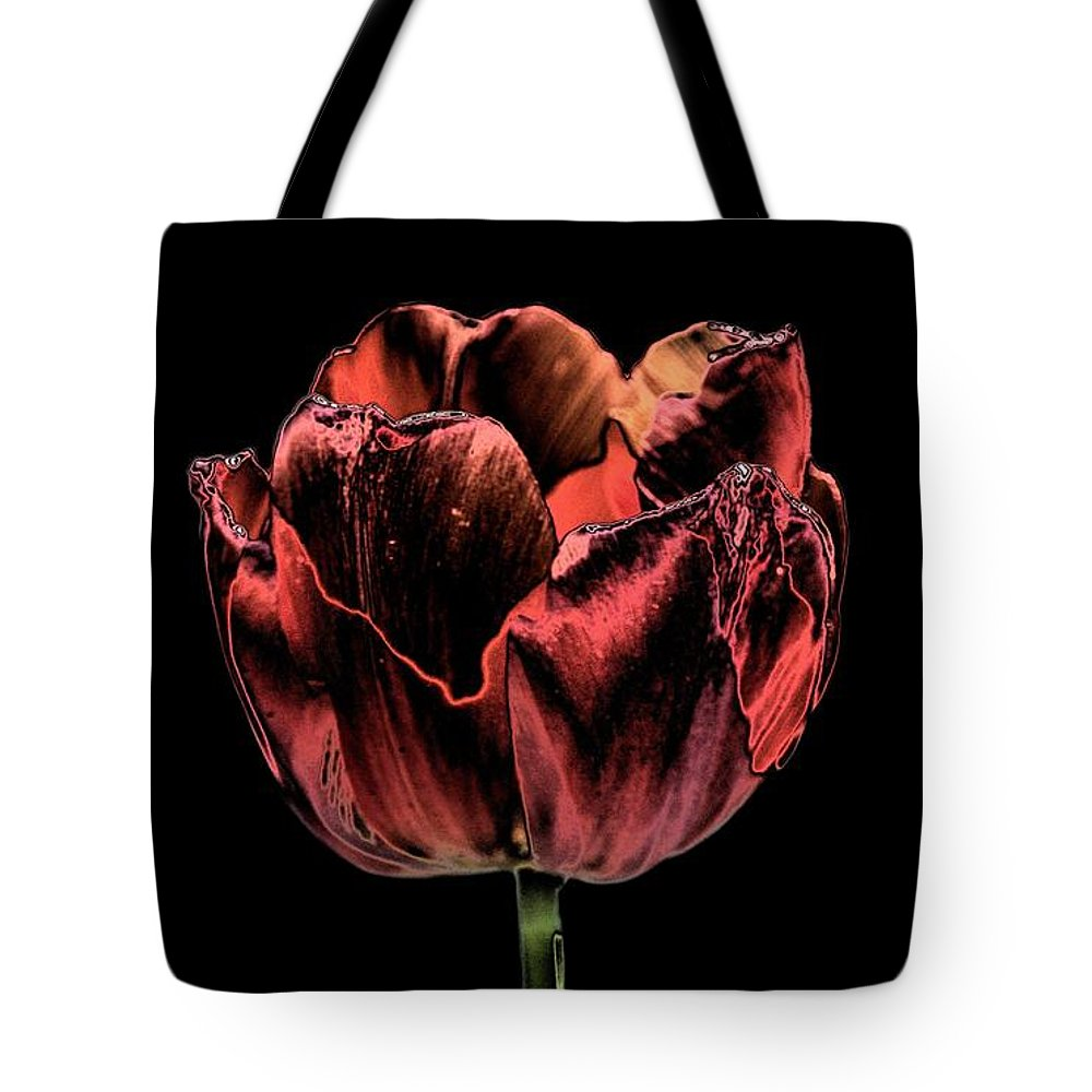 Evening Red Tote Bag featuring the photograph Evening Red by Maria Urso