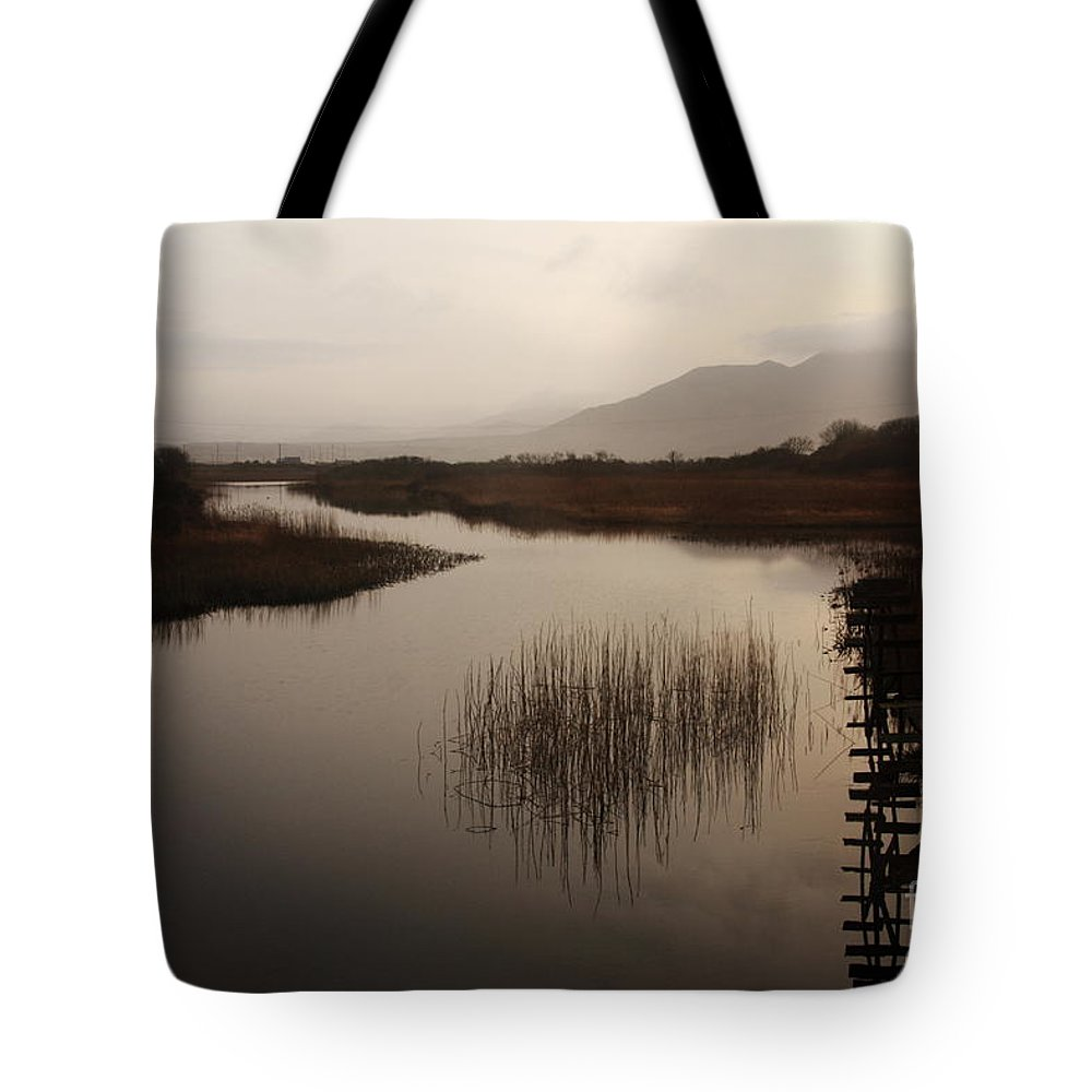 Ireland Tote Bag featuring the photograph Evening River Scene by Aidan Moran