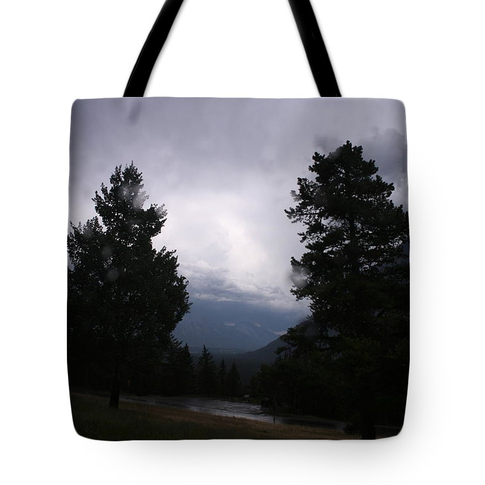 Tunnel Mountain Campsite Tote Bag featuring the photograph Evening Thunder Storm by Betty-Anne McDonald