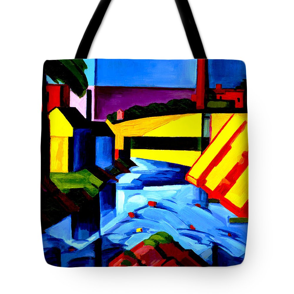 Oscar Florianus Bluemner Tote Bag featuring the digital art Evening Tones by Oscar Bluemner