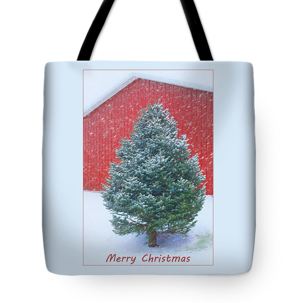 Christmas Tote Bag featuring the photograph Evergreen In Winter 2 by Nikolyn McDonald