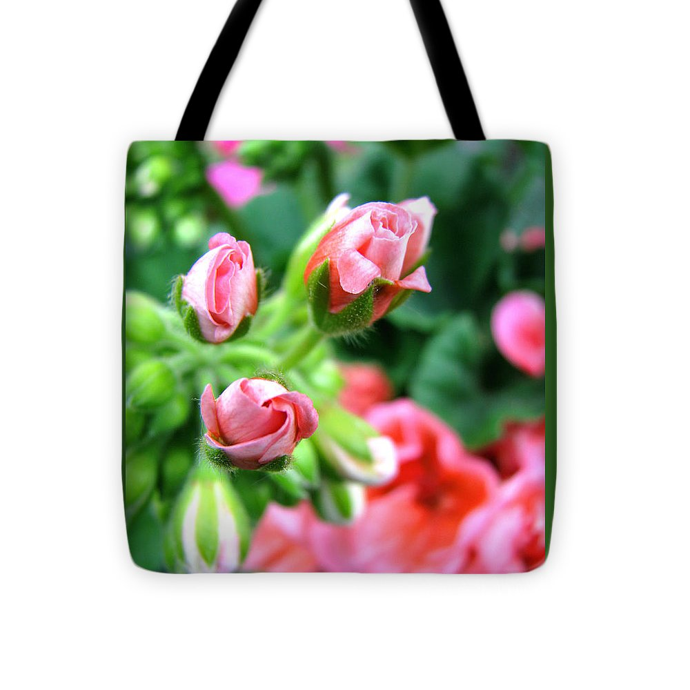 Geraniums Tote Bag featuring the photograph Everything's Coming Up Geraniums by Brooks Garten Hauschild