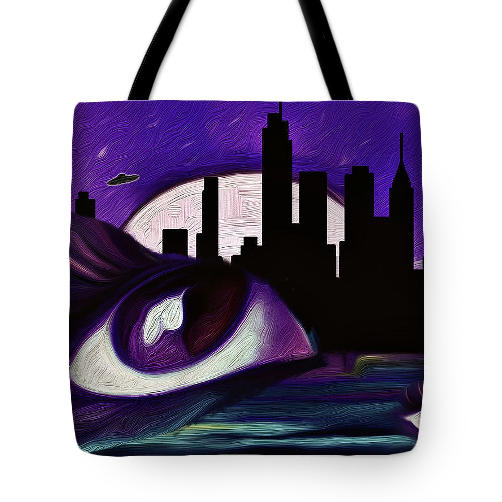 Evolution Tote Bag featuring the painting Evolution by Persephone Artworks