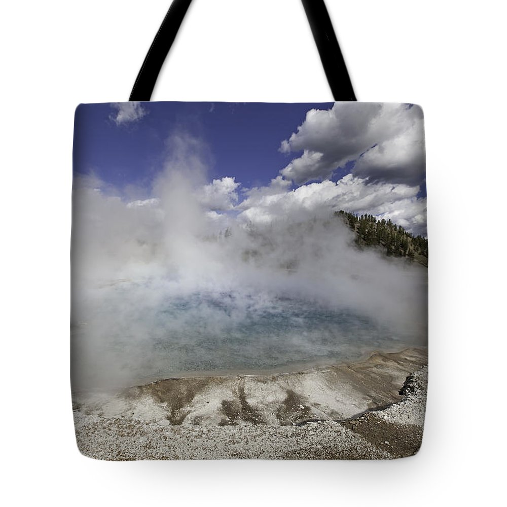 Excelsior Geyser Crater Tote Bag featuring the photograph Excelsior Geyser Crater In Yellowstone National Park by Fran Riley