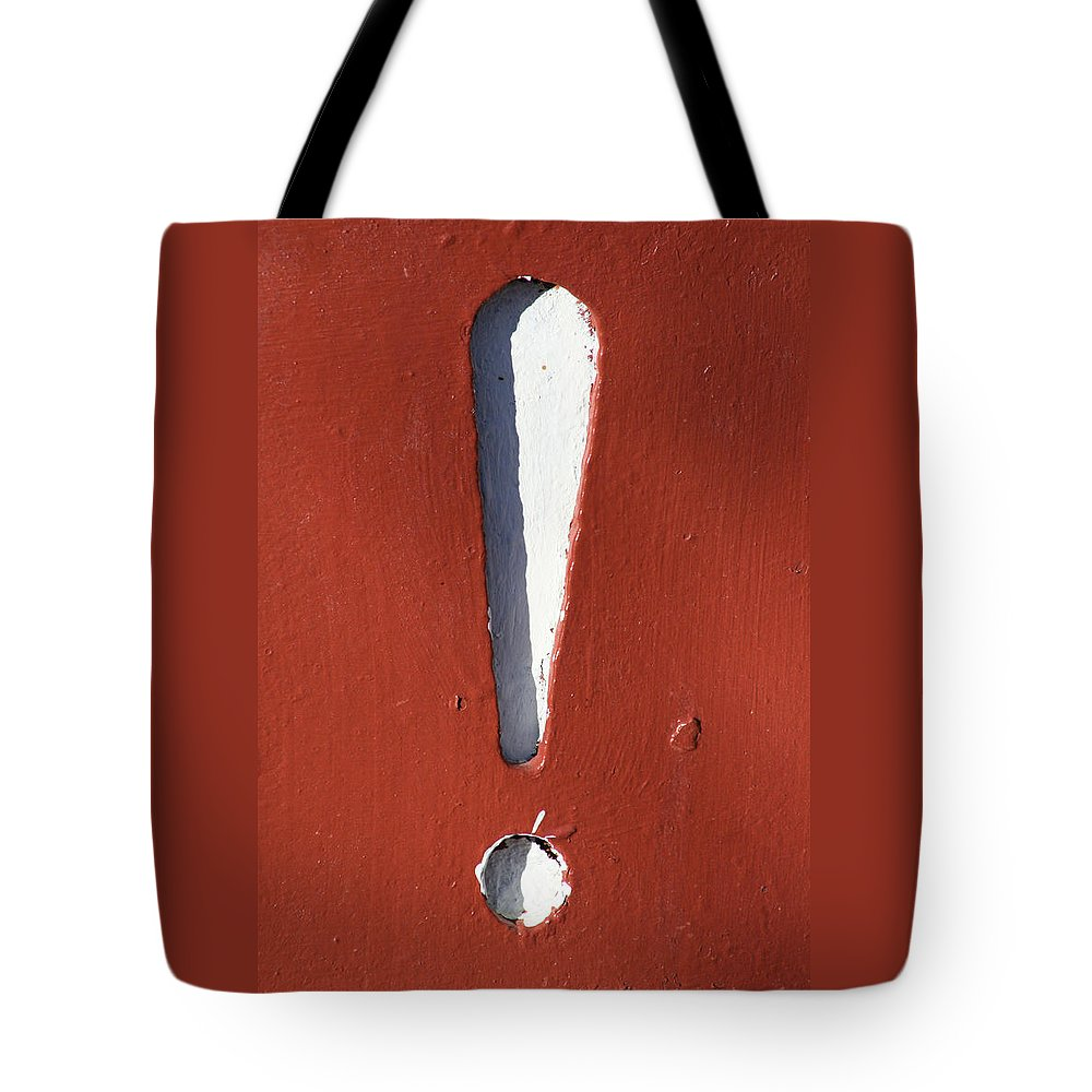 Decorator Art Tote Bag featuring the photograph Exclamation Point by Ric Bascobert