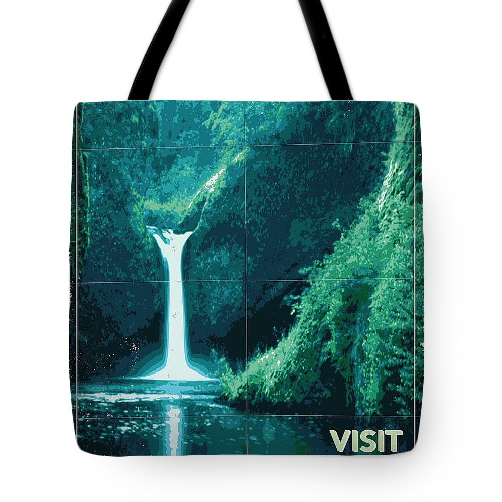 Space Tote Bag featuring the digital art Exoplanet 04 Travel Poster Fomalhaut B by Chungkong Art
