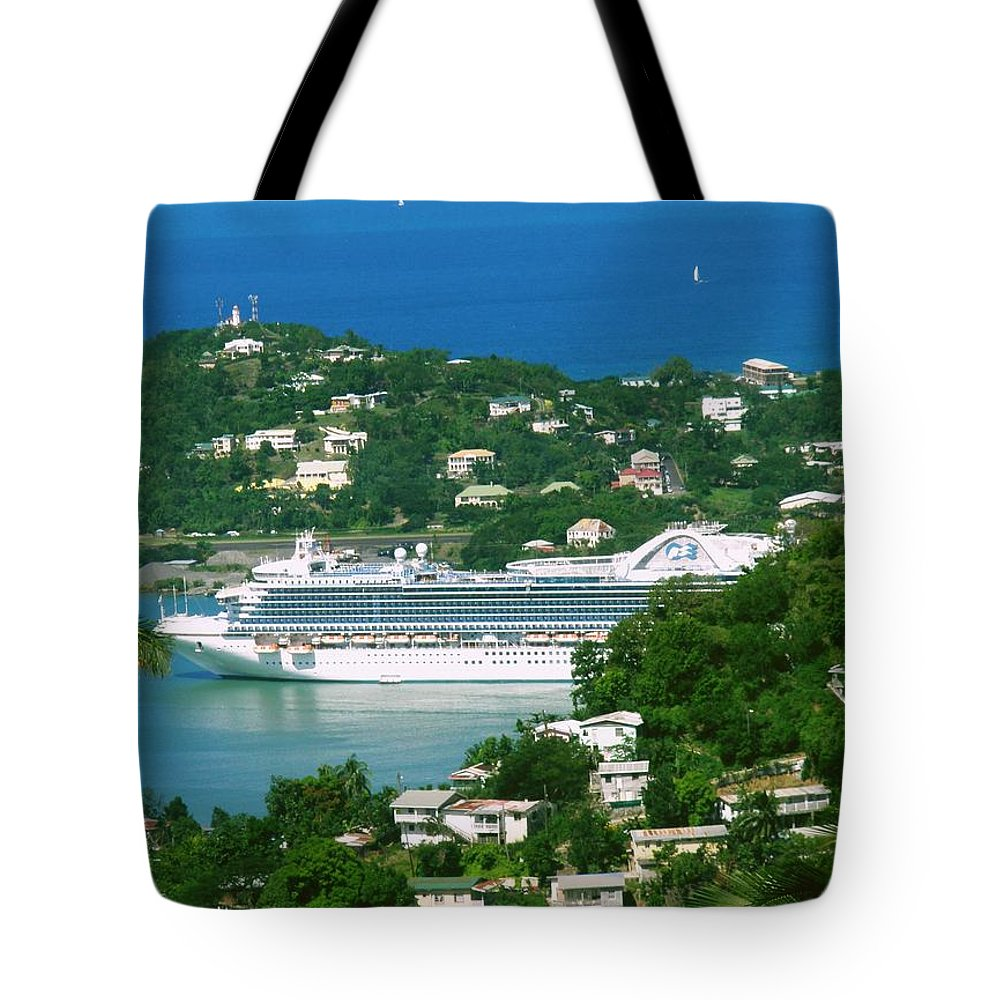 Cruise Tote Bag featuring the photograph Exotic Port by Gary Wonning