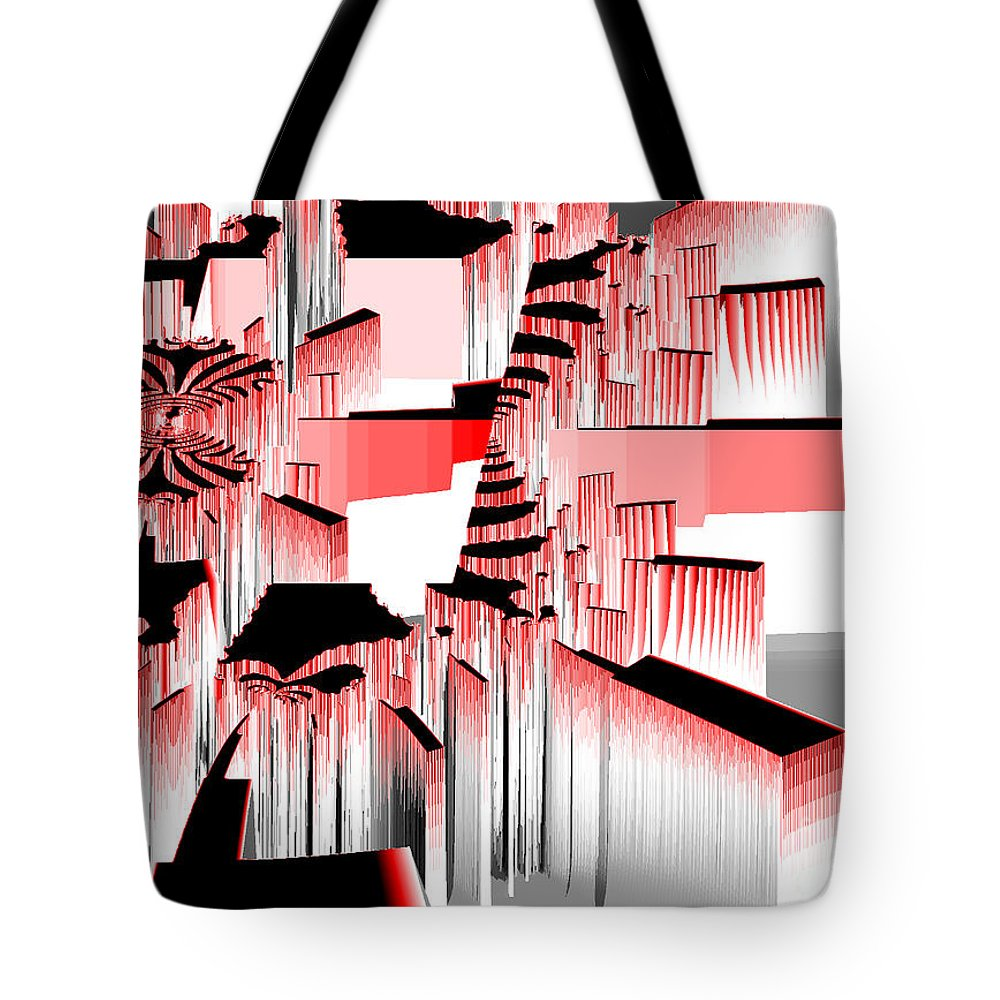 Fractal Tote Bag featuring the photograph Exploding Fractal by Darleen Stry