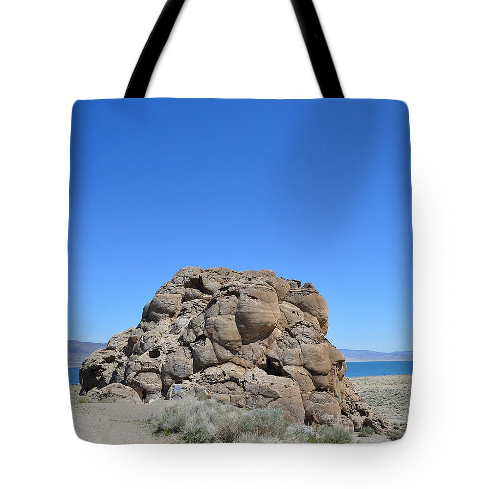 Rock Tote Bag featuring the photograph Exploring 2 by Brent Dolliver