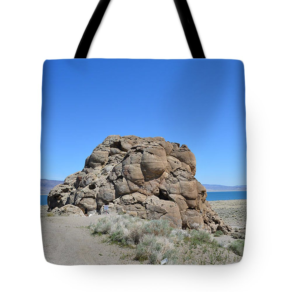 Rock Tote Bag featuring the photograph Exploring by Brent Dolliver