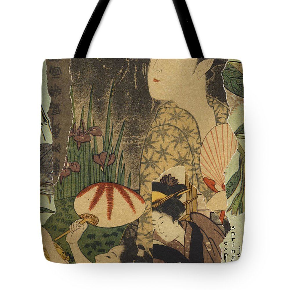Collage Tote Bag featuring the digital art Exploring by John Vincent Palozzi