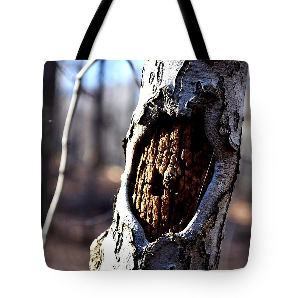 Bark Tote Bag featuring the photograph Exposed by Carlee Ojeda