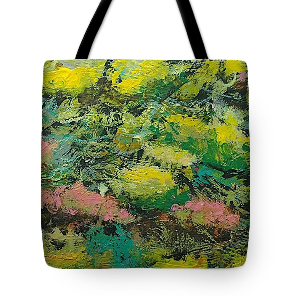 Landscape Tote Bag featuring the painting Extract by Allan P Friedlander