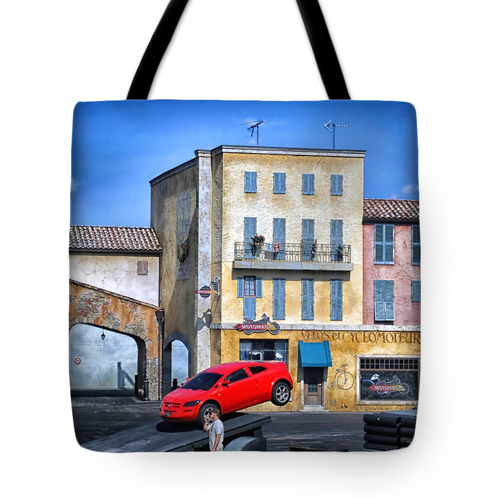 Extreme Stunt Show Tote Bag featuring the photograph Extreme Stunt Show 2 by Thomas Woolworth