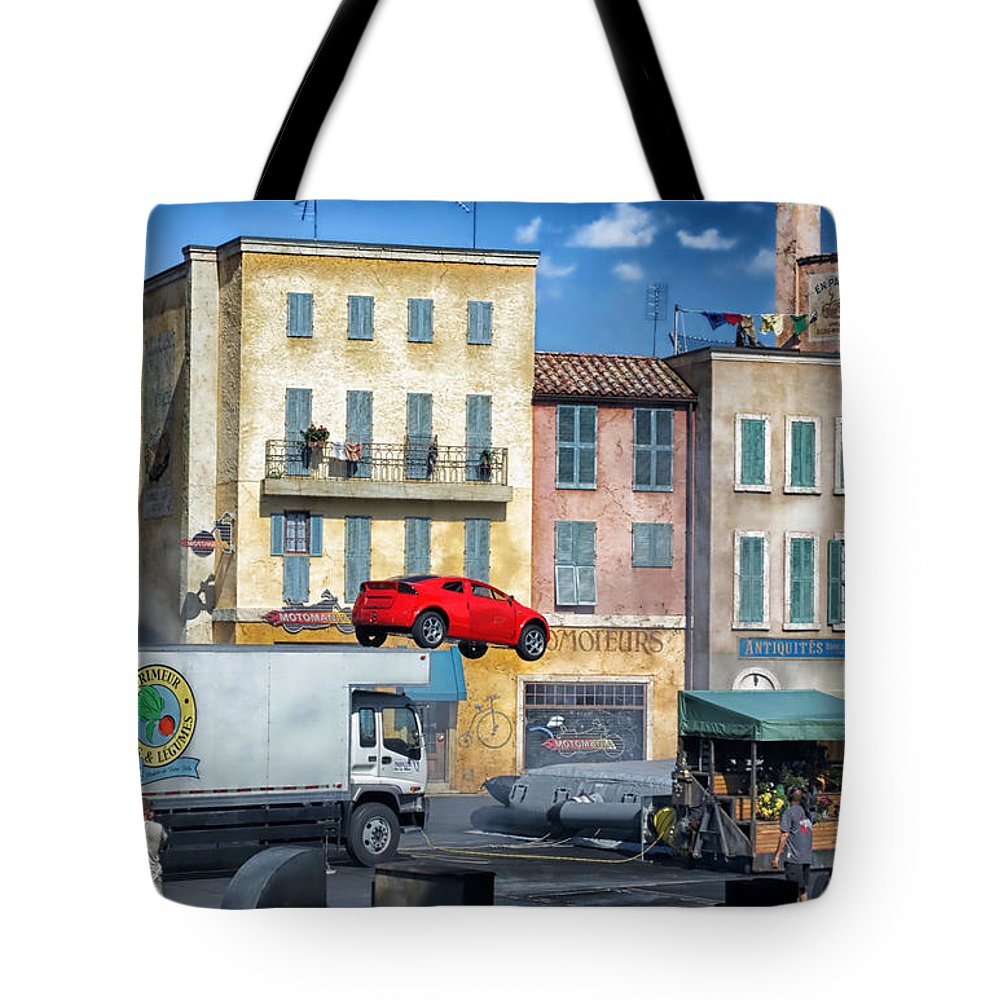 Extreme Stunt Show Tote Bag featuring the photograph Extreme Stunt Show 3 by Thomas Woolworth