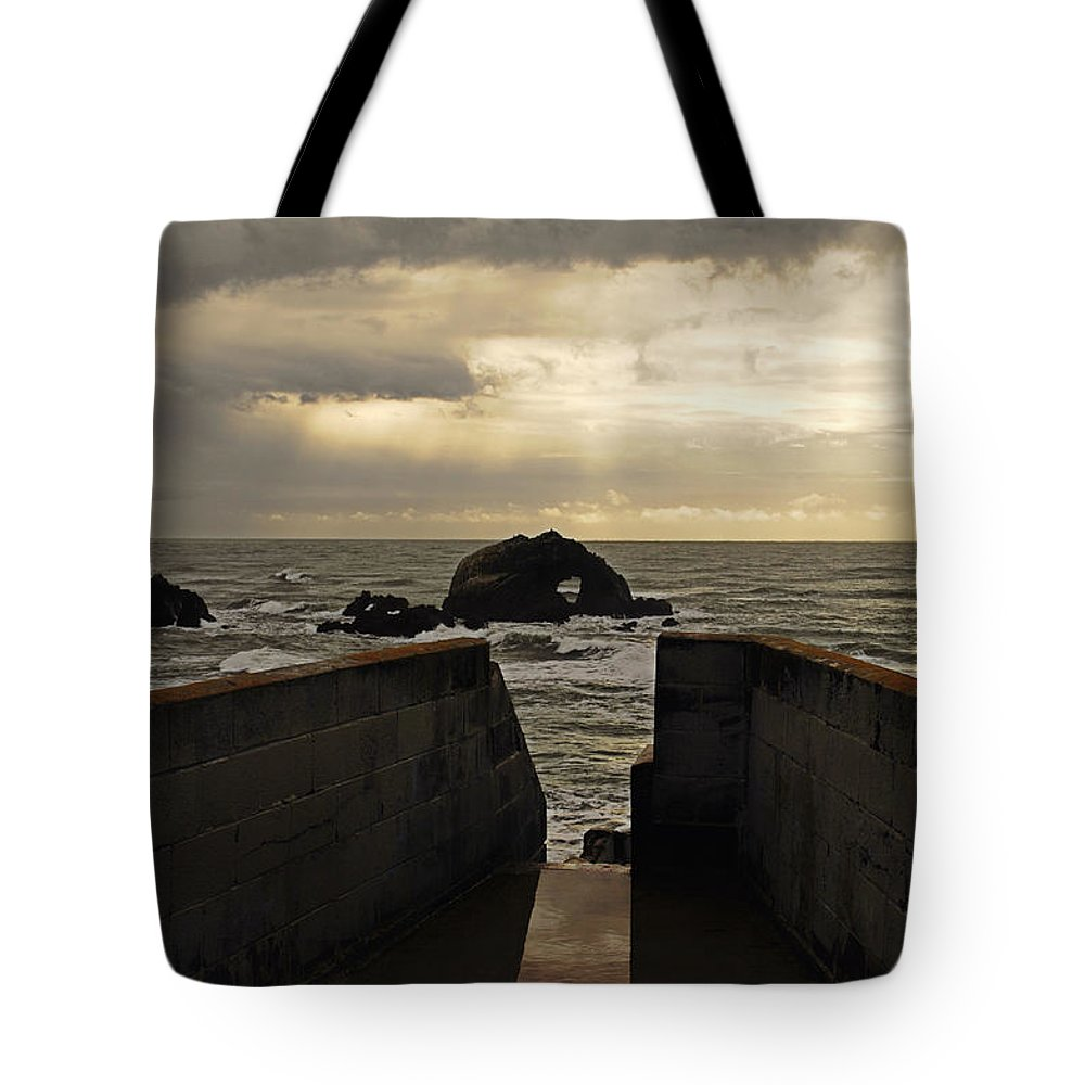 Clouds Tote Bag featuring the photograph Eye Of The Storm by Donna Blackhall