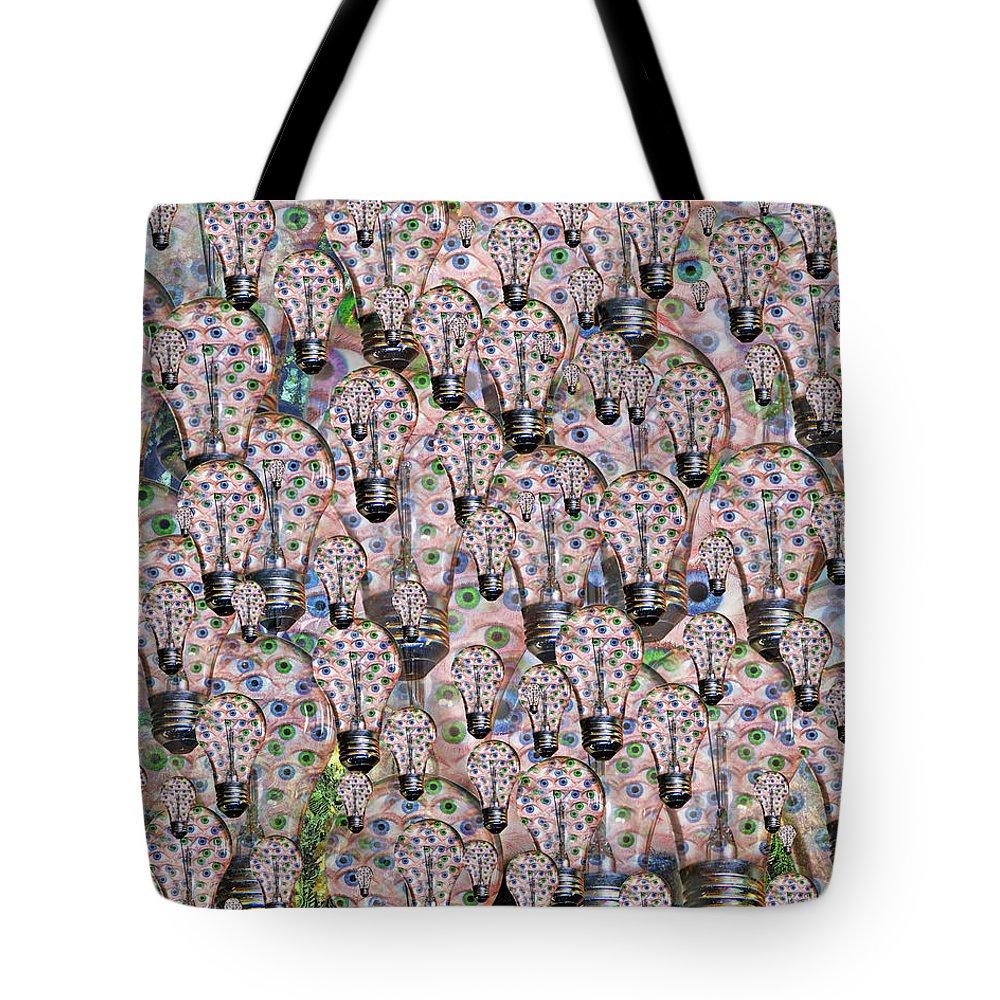 Light Tote Bag featuring the digital art Eyedea by Betsy Knapp