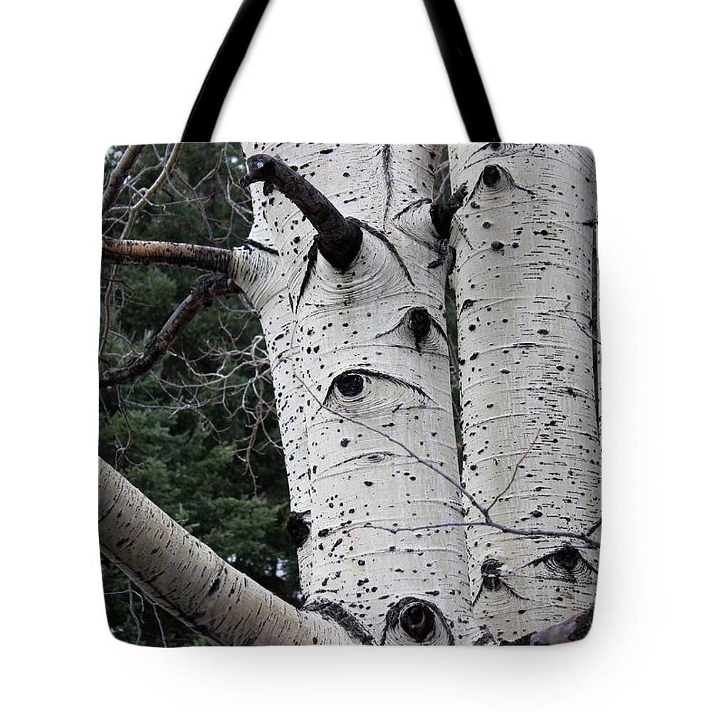 Eyes Of The Trees Tote Bag featuring the photograph Eyes Of The Trees by Kume Bryant