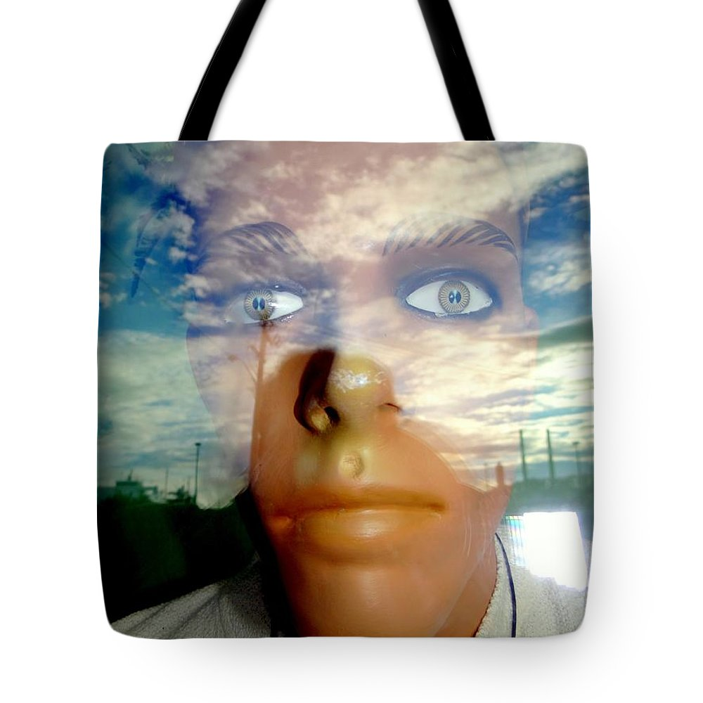 Mannequins Tote Bag featuring the photograph Eyes On The Horizon by Ed Weidman