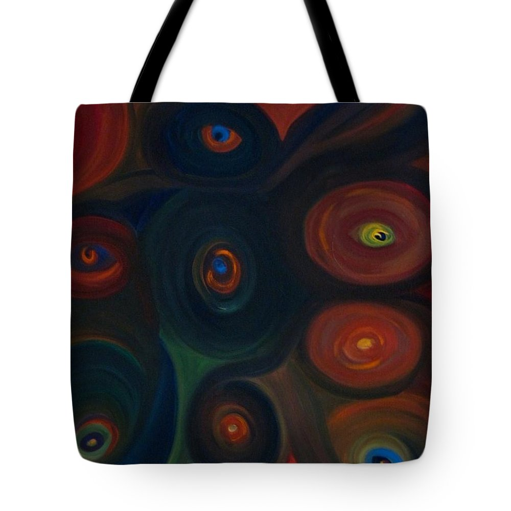 Eyes Tote Bag featuring the painting Eyes by Zoe Vega Questell