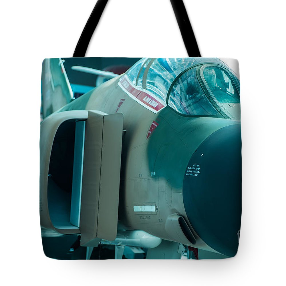Aircraft Tote Bag featuring the photograph F-4 Phantom II by Rich Priest