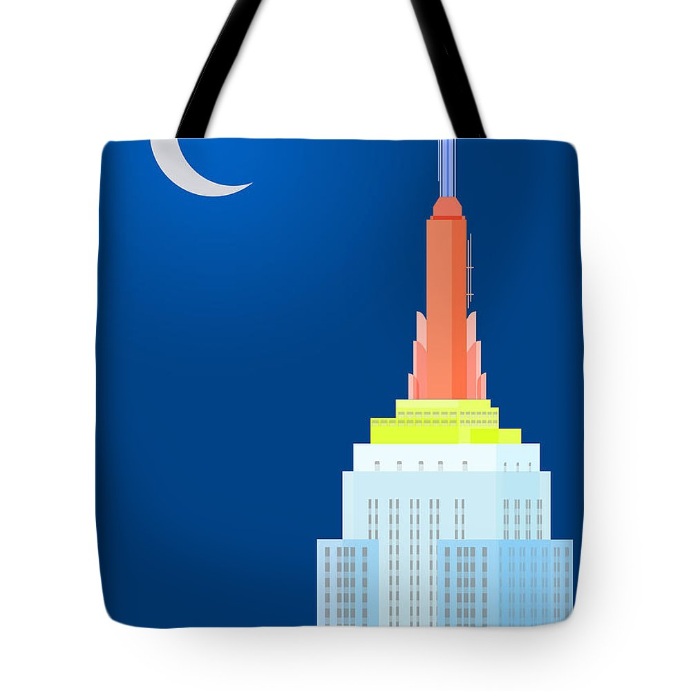 Empire State Building Vector Tote Bag featuring the digital art Fables And Fairy Tales by Nishanth Gopinathan