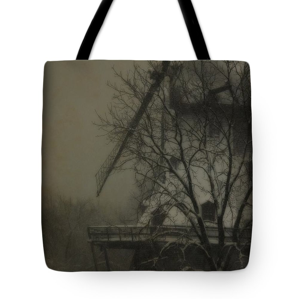 Windmill Tote Bag featuring the photograph Fabyan Windmill by Veronica Batterson