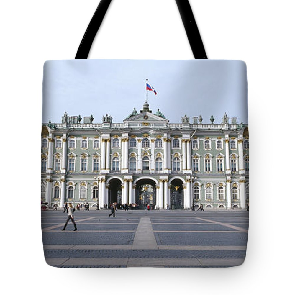 Photography Tote Bag featuring the photograph Facade Of A Museum, State Hermitage by Panoramic Images